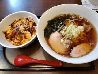 華蓮 - ら~めん+ミニ麻婆豆腐丼