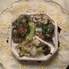 KITCHEN パッケ - 料理写真:3品盛(左から時計回り:山芋、たこ、キノコのコンフィ