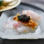 AUBE - 平目 キャビア昆布締めXO醬