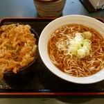 小諸そば - ミニかき揚げ丼セット¥500 2012.4.21