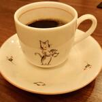 125998068 - シン・にゃんこそば950円のコーヒー♪