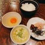 土の子 - 卵かけご飯セット