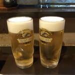 もつ鍋 みやわき - 生ビール