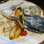 TANTO屋 - 明石鯛のポワレ(坊勢の牡蠣付き)