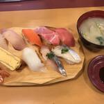 寿司じじや - 料理写真:上寿司セット=1045円
