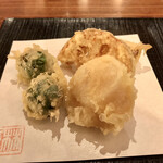 126010297 - 桜海老のかき揚げの所、桜海老が苦手と予約時に連絡しましたら、天ぷらを用意して下さいましたm(_ _)m