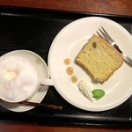 こぐま - 桜ラテ、きな粉のシフォン