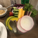 酒嚢飯袋 - 野菜スティック。アロエうまい。