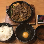 スギモト - すき鍋定食(お肉2倍)