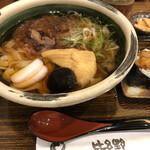 kishimenyatemmusuhirono - きしめん(赤)麺大盛り