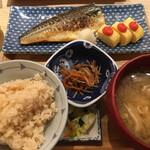 東京 壽 - 焼き魚(サバ塩焼き)&  明太出汁巻 1000円