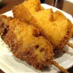 かぶら屋 - 野菜串揚げ レンコン・玉葱