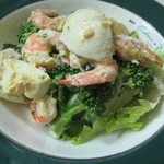 居酒屋 一丁目 - ブロッコリー&海老&卵のサラダ