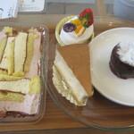 パティスリーアンパッション - はしべんとうストロベリー、レアチーズ、スフレチーズ、フォンダンショコラ