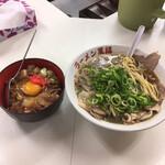 中華そば 萬福 - しょうゆラーメン ¥750 ミニチャーシュー丼 ¥270