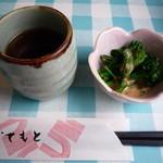 翔 - お茶と菜の花の胡麻ドレッシング和え