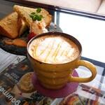 和楽cafe - 味噌キャラメルラテ*。・+(人*´∀`)+・。*