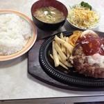 オオタニ - ハンバーグステーキ セット@¥800