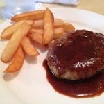レストラン小川 - ランチのハンバーグ