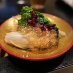 四季の味ちひろ - 前菜の牡蠣です