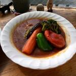 Supukarekamui - チキン野菜カレーのアップ