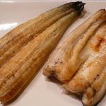 保立川魚店 - 白焼きとワサビ