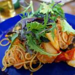 軽井沢ベジビエ - 彩り野菜のトマトパスタ(1,350円)