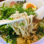 満麺亭 - ネギ盛りあぶり醤油ラーメン750円