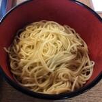 味味香 - 中華麺の替え玉