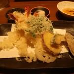石月 - 冬野菜の天ぷら盛り合わせ