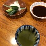 126142742 - 漬物、ソース、お茶