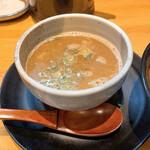 126147132 - 鶏と魚介のWスープのつけ汁