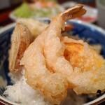 月の庭 - 天ぷら定食A(丼バージョン)