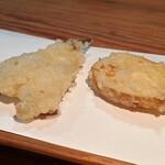 月の庭 - 鱚、馬鈴薯(天ぷら定食B)
