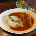 cafeウララカ - 大山鶏のスパイシーチキンカレー