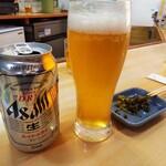 福龍ラーメン - ドリンク写真:缶ビール
