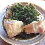 御神火茶屋 - 岩のりチーズトースト