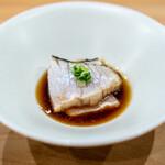 鮨 十兵衛 - 藁焼きの鰆、 ポン酢