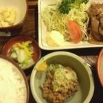 12619992 - (ランチ)豚しょうが焼き定食(大盛)+納豆