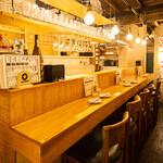 月島 天ぷら酒場@rkitchen - カウンター
