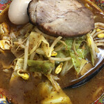 まぐろラーメン大門 - 料理写真:辛唐麺味玉