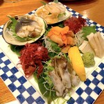 貝料理 吟 - 貝のお刺身5点盛り