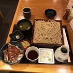 笑笑庵 - 昼食セット(税込み1100円)