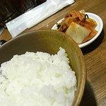 麻辣麺 雷伝 - ライス(+50円)キムチも食べ放題