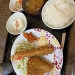 母里の風 - 料理写真:宮城県推奨食べきりメニュー 【エビフライとヒレカツ】ランチ¥900税込