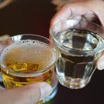 酒ノみつや - 赤星(大)と日本酒で乾杯♪