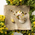 クラシカ表参道 - ホタテと菜の花のタルトレット  ヘーゼルナッツの泡仕立てソース レモンペースト