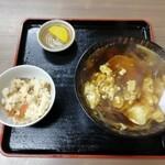 いねのや - 料理写真:かき玉うどん530円。火曜日のランチタイムは五目ご飯付き(^-^)v