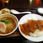12621436 - 角煮丼とミニラーメンセット(日替わり)