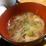 300円本舗 だんだん - スープ